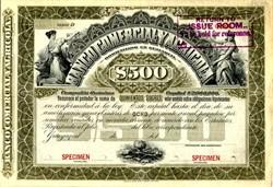 Banco Comercial Y Agricola - Guayaquil, Ecuador 1902