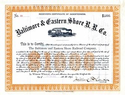 Baltimore & Eastern Shore Railroad - Maryland 1892