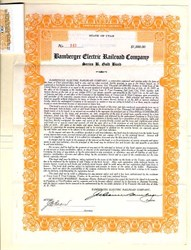 Bamberger Electric Railroad Company- Series B. Gold Bond - Utah 1927