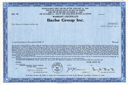 Bache Group Inc. ( Became Prudential-Bache Securities)  - Delaware 1980