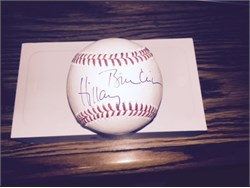 Official Major League Baseball hand signed by Hillary Clinton and Bill Clinton