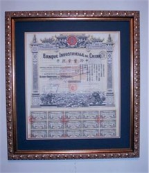 Banque Industrielle de Chine Framed - China Industrial Bank 1913