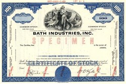 Bath Industries, Inc. (Was Bath Iron Works) - Delaware 1969