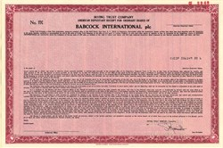 Babcock International plc - New York 1986