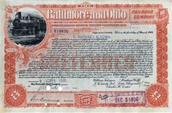 Baltimore and Ohio Railroad Company (Issued to R. Raphael & Sons) - 1900