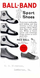 Ball-Band Sport Shoes Ink Blotter  - Old High Top Tennis Shoes 1920's