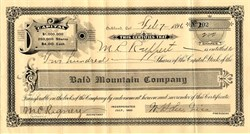 Bald Mountain Company - Oakland, California 1896