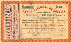 Banco Nacional De Boliva - Boliva 1876