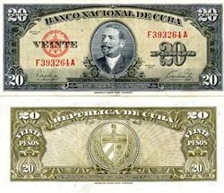 Banco Nacional De Cuba Paper Money - Pre Castro - 1949