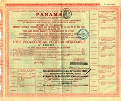 Bankrupt French Panama Canal Liquidation Bond dated 1889 - 19th Century Scandal