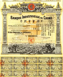 Banque Industrielle de Chine - China Industrial Bank 1919