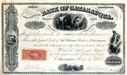 National Bank of Catasauqua - 1868 Civil War Tax Stamp