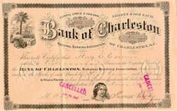 Bank of Charleston National Banking Association 1890's - South Carolina