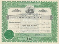 Bank of West Hollywood 1930