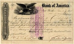 Bank of America - New York 1858
