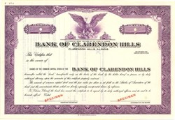 Bank of Clarendon Hills - Illinois