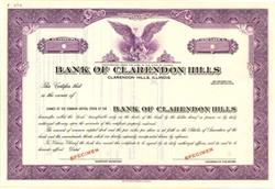 Bank of Clarendon Hills - Illinois