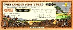 Bank of New York One Dollar Money Order from Freedomland USA Amusement Park - New York 1960