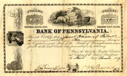Bank of Pennsylvania (First State Bank) - 1857