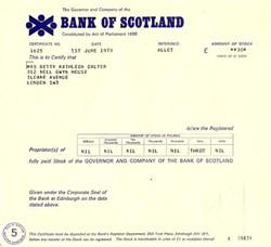 Bank of Scotland - Scotland 1973