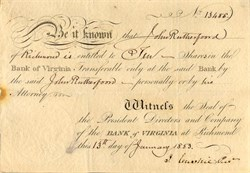 Bank of Virginia - Richmond, Virginia 1853