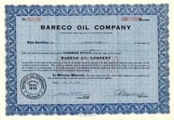 Bareco Oil Company - Delaware 1945