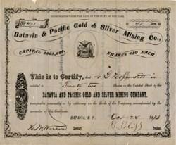 Batavia & Pacific Gold & Silver Mining Company - Batavia, New York - Nevada -1873
