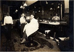 Barbershop Photo -  Circa 1890's