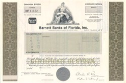 Barnett Banks of Florida, Inc.