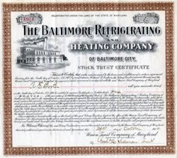 Baltimore Refrigerating and Heating Company of Baltimore City - Maryland 1904