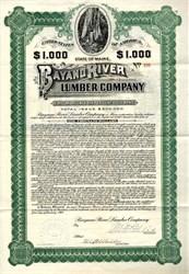 Bayano River Lumber Company - Maine 1909