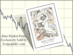 "Exclusive Scripophily Print called ""Bare Market"""