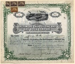 Baltimore Shipbuilding and Dry Dock Company (certificate #2) - 1902