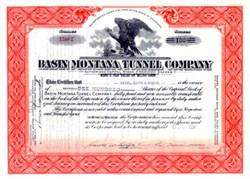 Basin Montana Tunnel Company 1934 - Comet