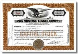 Basin Montana Tunnel Company (Original Comet Mine) - Jefferson County, Montana 1937