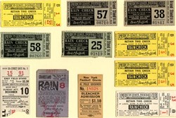 Baseball Ticket Stubs (11) from Clark Griffin Stadium, Polo Grounds and Fenway Park  1938 to 1944