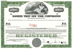 Bankers Trust New York Corporation - 1968 ( Now Deutsche Bank )