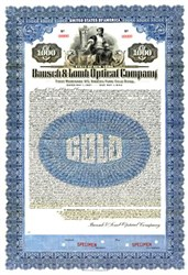 Bausch & Lomb Optical Company 1927 - Gold Bond