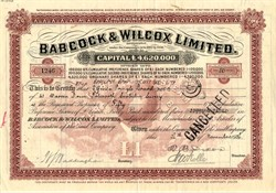 Babcock & Wilcox Limited - England 1936