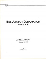Bell Aircraft Corporation Annual Report 1939