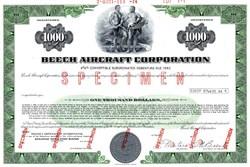Beech Aircraft Corporation (convertible bond ) RARE Specimen - Delaware 1974