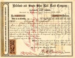 Bellefonte and Snow-Shoe Rail Road Company - Pennsylvania 1864