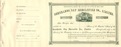 Bernhards Bay Mercantile Co., Limited - New York 1890's