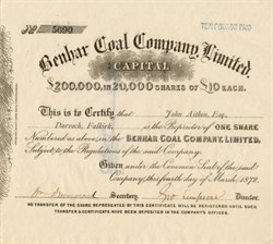 Benhar Coal Company, Limited - Scotland, 1872