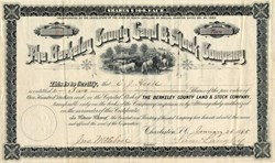 Berkeley County Land & Stock Company - Charleston, South Carolina 1888