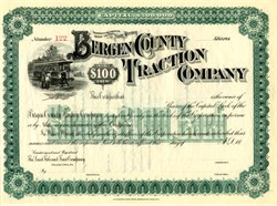 Bergen County Traction Company - New Jersey 1890's