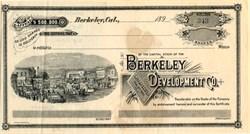 Berkeley Development Co. - California 1890's