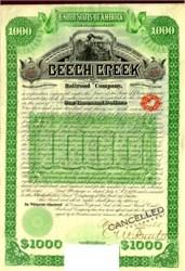 Beech Creek Railroad Company 1886
