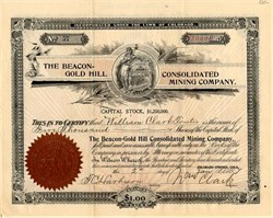 Beacon-Gold Hill Consolidated Mining Company - Colorado Springs, Colorado 1897
