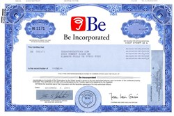 Be Incorporated - Delaware 2001